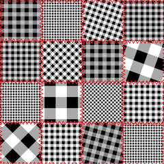 Checked patchwork