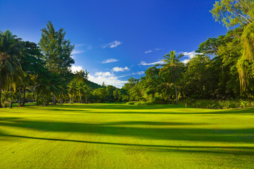 Golf field at Seychelles
