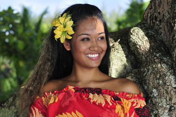 Hawaiian girl smiling