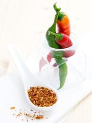 Peperoni und Samen
