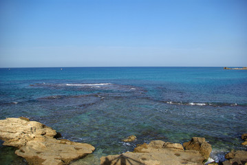 Ruins of harbor at Caesarea