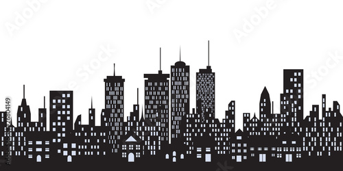 urban buildings in the city stock image and royalty free vector