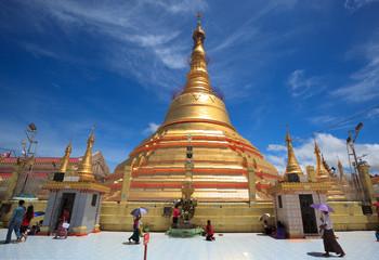 Myanmar people at Botataung Pagoda, Yangon (Rangoon), Myanmar