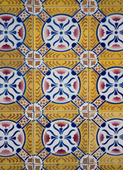 Photo sur Toile Tuiles Marocaines Ornamental old tiles