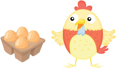 eggs and hen