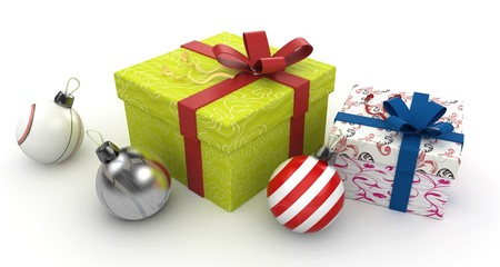3d christmas gift boxes