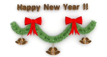 3d Happy New Year decoration