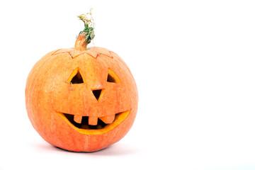 Halloween Pumpkin Lantern isolated on white