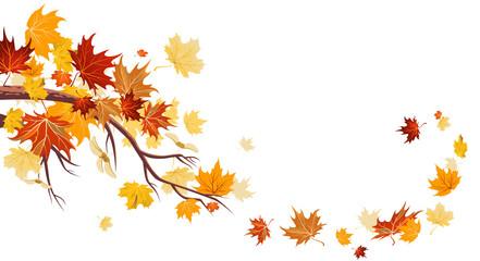 Wall Mural - Maple leaves