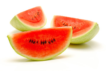 pieces of watermelon on isolated