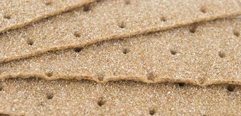slices of crispbread background.