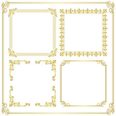 gold frame corner decoration