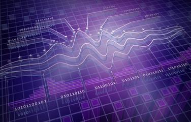 IT analytics , 3D background