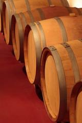 Fototapete - Barrique, Rotwein, Eichenfässer,  Weinfässer, Holzfässer