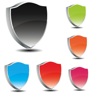 Vector shields in 3d - Different colors