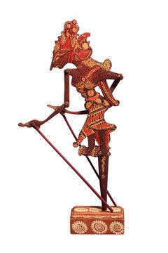 A traditional marionette Wayang Kulit, Hanuman. Indonesia