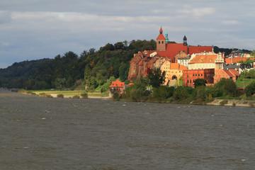 Grudziadz city at Wisla river - Poland