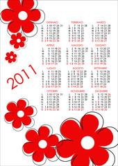 Calendario 2011 fiori rossi