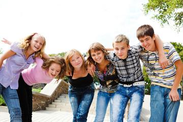 Teenage girls and guys