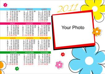 Calendario 2011 fiori colorati