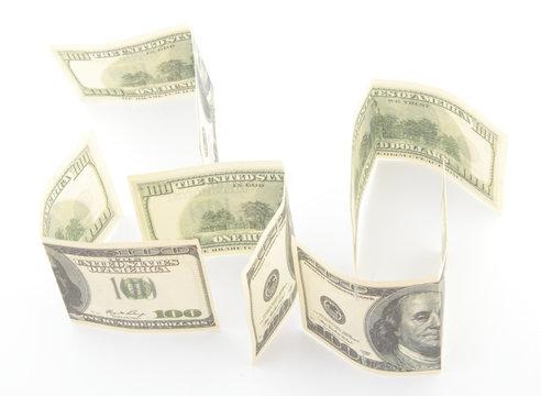 dollars isolated