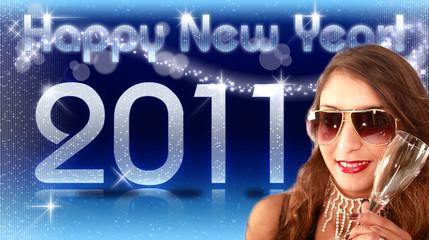 HNY 2011 Sekt blue