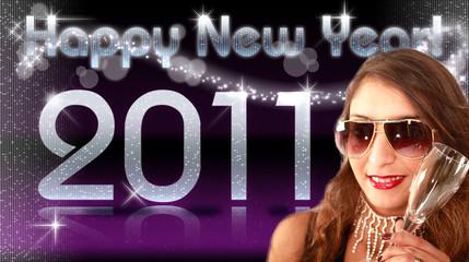HNY 2011 Sekt violet