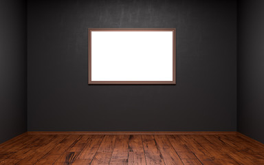 Empty picture in a dark room