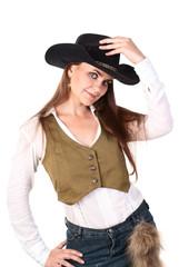 Cowboy woman.