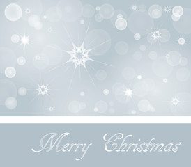 Christmas Wish Card in soft Colors Vector