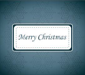 Blue Christmas Wish Card Vector