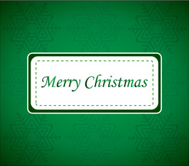 Green Xmas Wish Card Vector