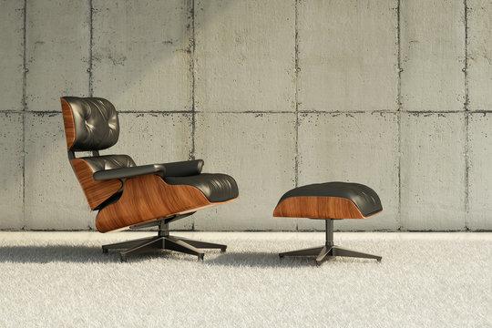 Minimalistic lounge chair shot
