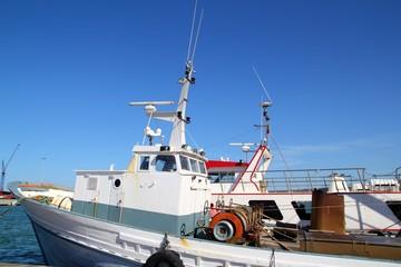 Fisherboat on mediterranean harbor