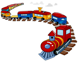 Toy Train Background