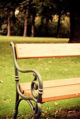 Autumn bench in Vienna