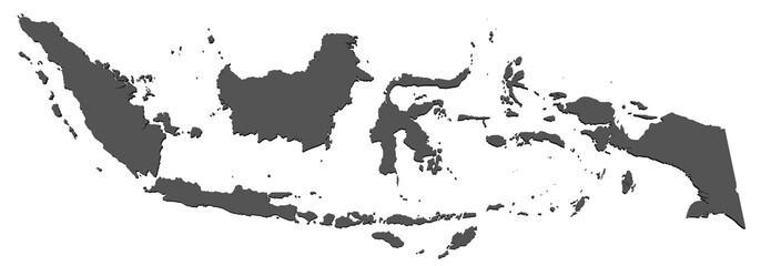 Karte von Indonesien - freigestellt