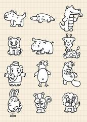 hand draw cute animal