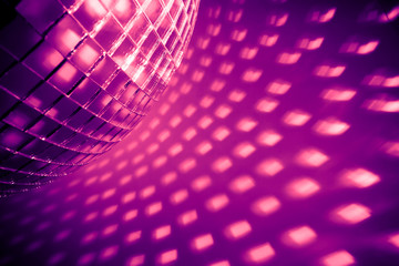 Wall Mural - purple disco background