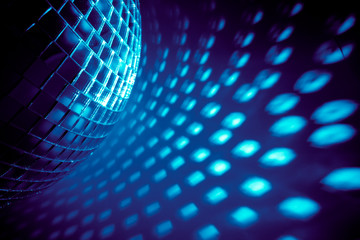 Wall Mural - blue disco background