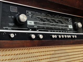 Grunge old radio panel