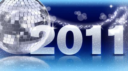 2011 Discokugel blau
