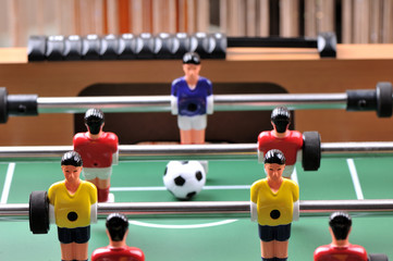 Table football game detail.