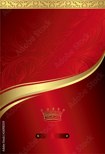Royal Red Gold Crown Background