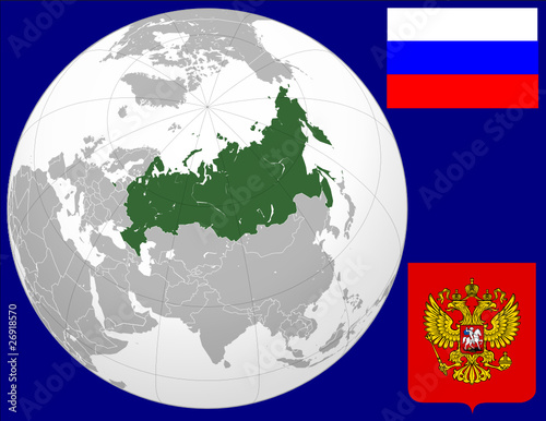 Russia globe map locator world flag coat stock image and royalty russia globe map locator world flag coat gumiabroncs Images