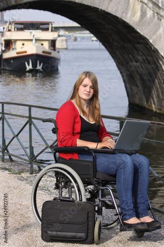 Girl In A Wheelchair