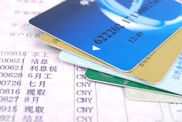 Credit card and bankbook