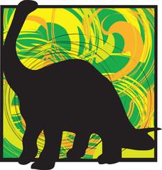 Dinosaur illustration. Vector