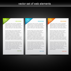 vector set of web banner