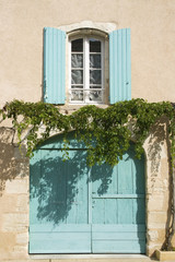 French Village Street view gate shutter Provence France